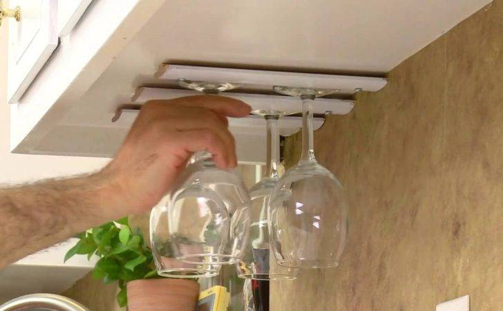 Build Your Own Diy Wine Glass Rack Kitchen Cabinets