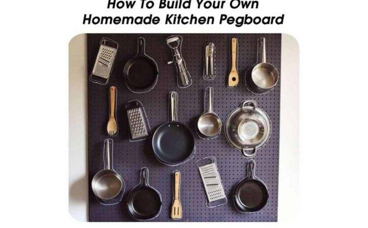 Build Your Own Homemade Kitchen Pegboard