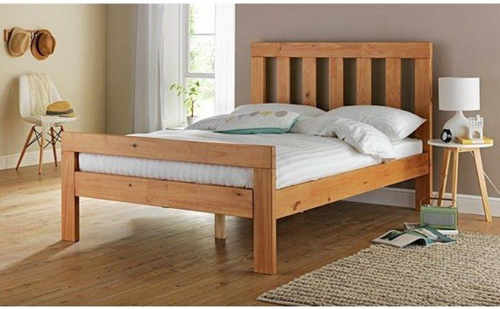 Buy Collection Chile Small Double Bed Frame Oak Stain