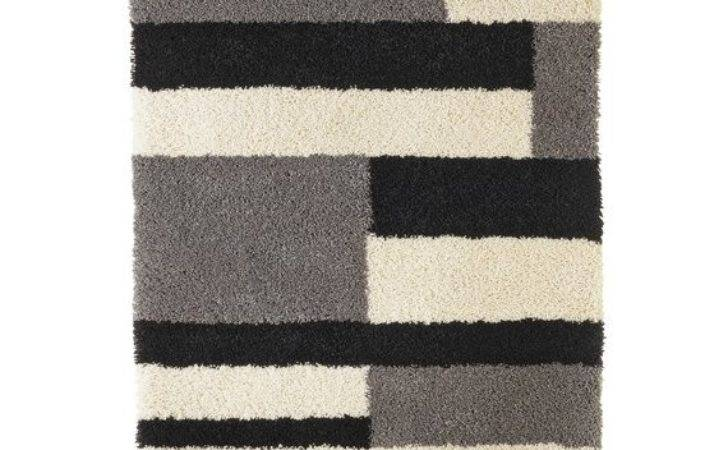Buy Collection Noble Block Shaggy Rug Grey