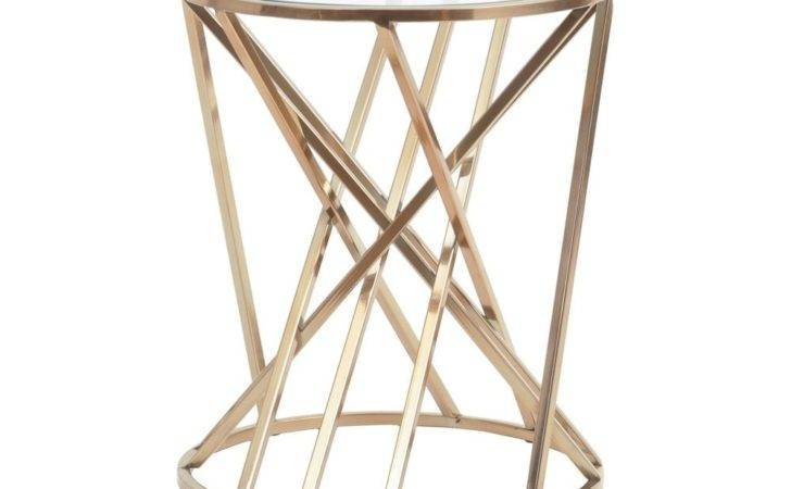 Buy Gold Twist Side Table Glass Top Fusion Living