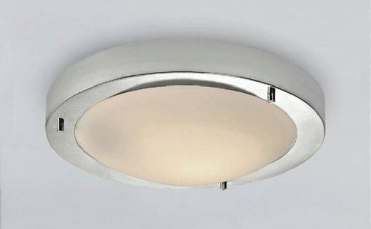 Buy Home Frosted Glass Flush Bathroom Ceiling Fitting