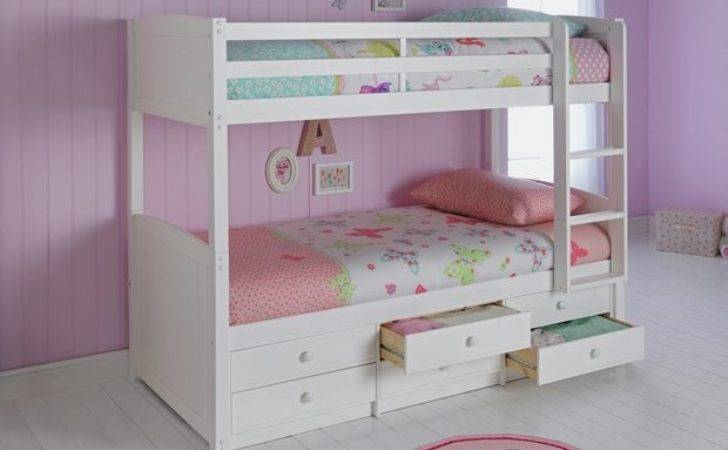 Buy Home Leigh Detachable Single Bunk Bed Frame White