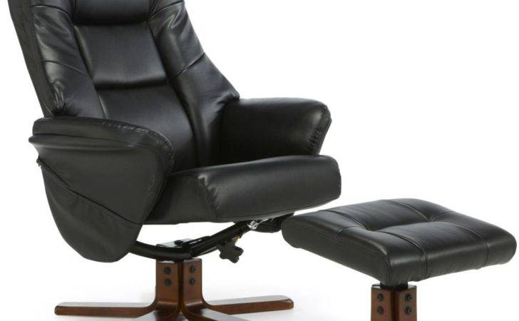 Buy Serene Drammen Black Faux Leather Recliner Chair