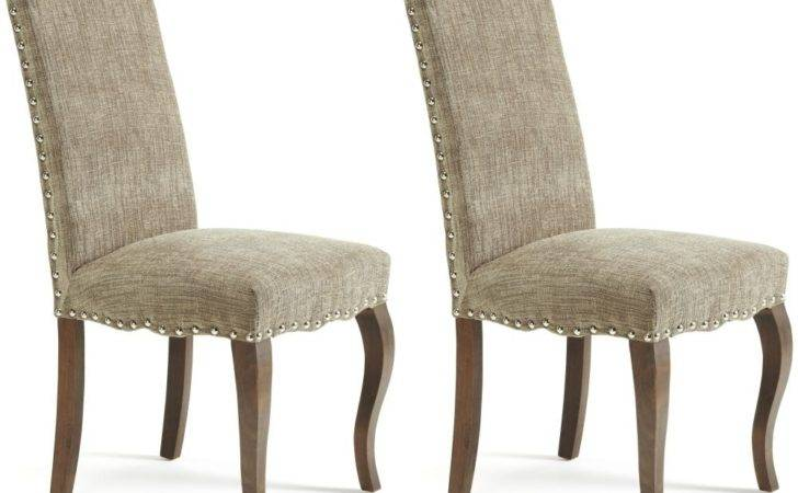 Buy Serene Kensington Bark Fabric Dining Chair Walnut