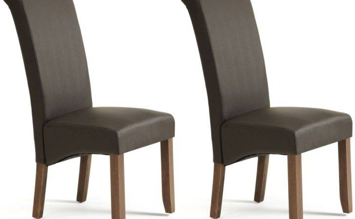 Buy Serene Kingston Brown Faux Leather Dining Chair