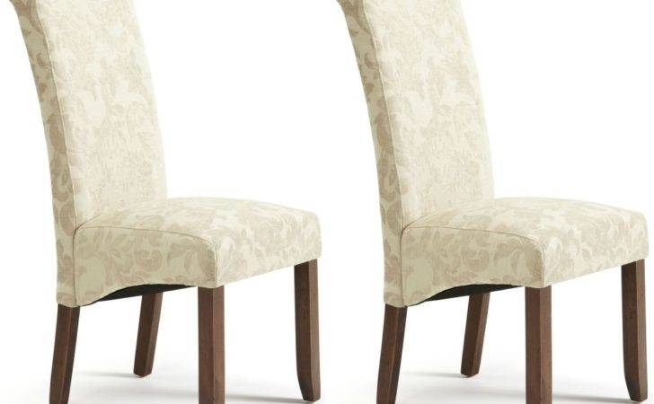 Buy Serene Kingston Cream Floral Fabric Dining Chair