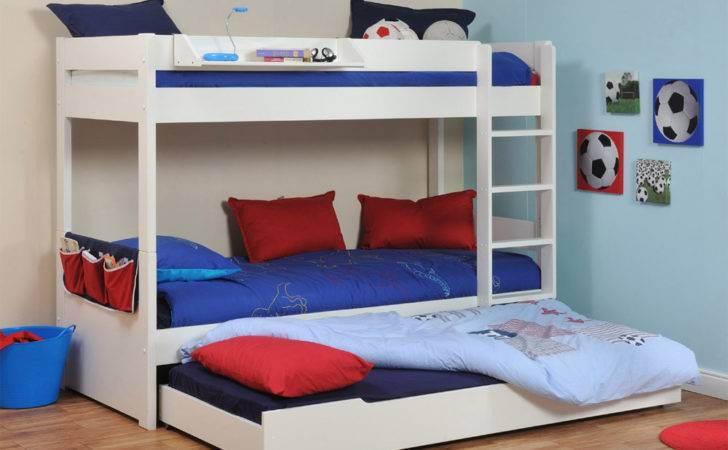 Buy Stompa Classic Kids White Bunk Bed Trundle