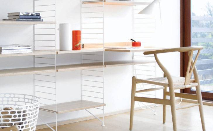 Buy String Shelf System Oak White Nest