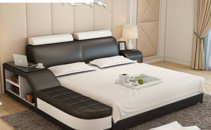 Buy Wholesale Leather Bed Designs China