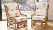 Cadiz Cane Diamond Lattice Conservatory Armchairs
