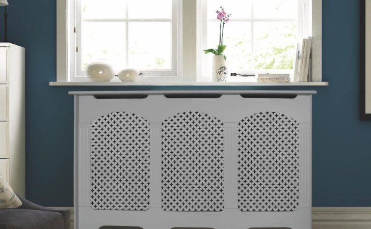 Cambridge Large White Painted Radiator Cover Departments