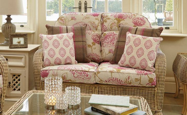 Cane Conservatory Sofa Furniture Set Candle