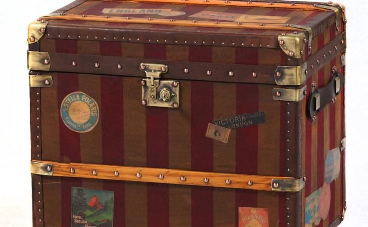 Canvas Leather Storage Trunk Chests Trunks