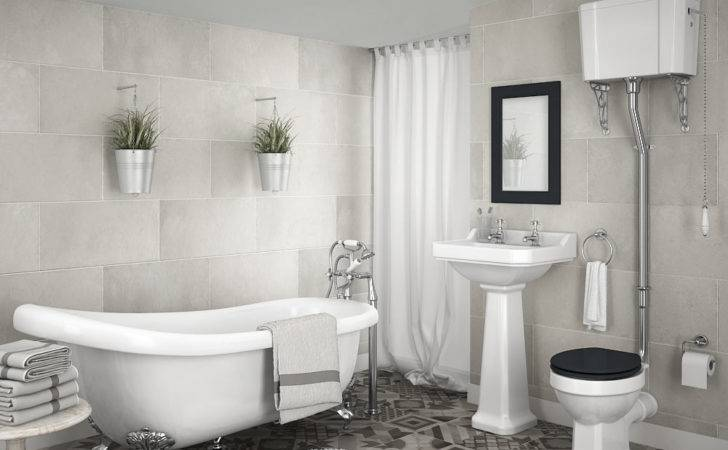 Carlton High Level Bathroom Suite Roll Top Bath