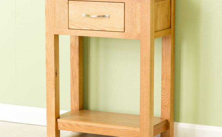 Carne Oak Small Console Table Hall Solid