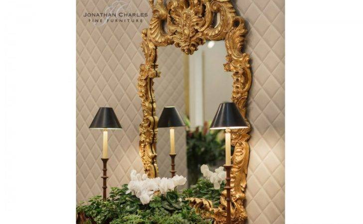 Carved Gold Rococo Style Mirror Swanky Interiors