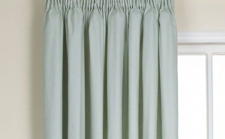Cashback Colours Mali Pleated Curtains Duck Egg
