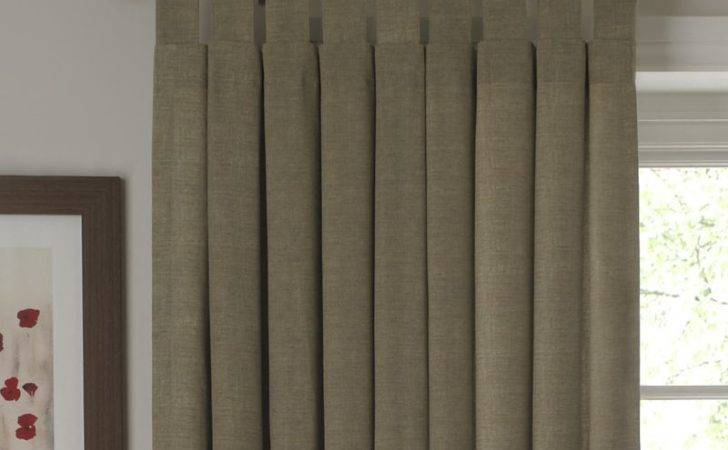 Cashback Tab Top Unlined Curtains Linen Effect