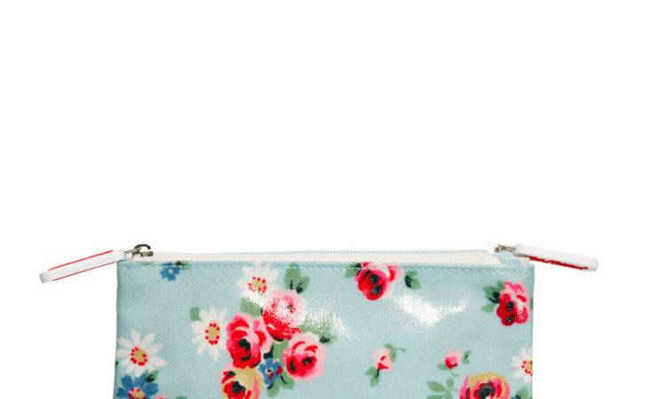 Cath Kidston Daisy Rose Pink Stars Double Zip Makeup Bag