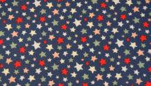 Cath Kidston Shooting Star Navy Blue Oilcloth