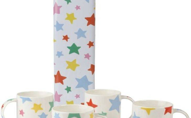 Cath Kidston Stars Set Four Stacking Mugs Shopcade
