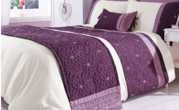 Catherine Lansfield Lois Mauve Bed Runner Next Day