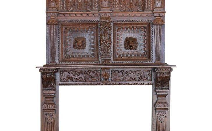 Century Baroque Carved Fireplace Surround Over