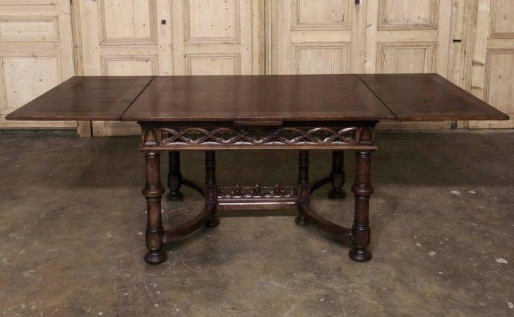 Century French Gothic Draw Leaf Dining Table Stdibs