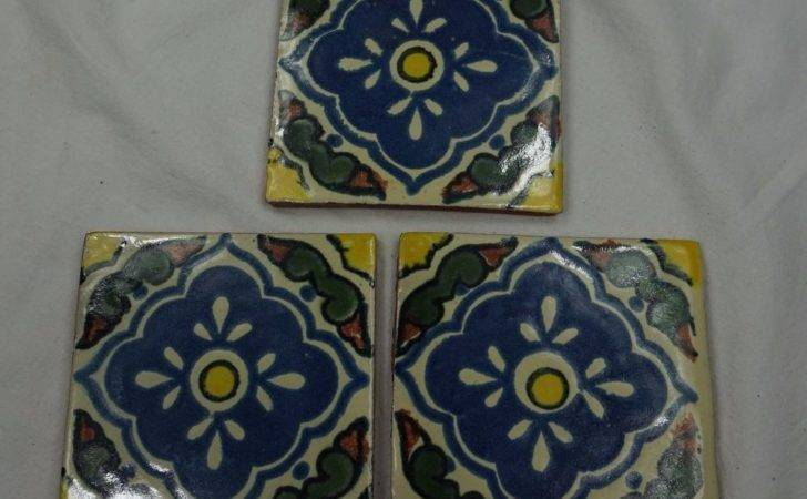 Ceramic Mexican Wall Tile Hand Painted Made Mexico
