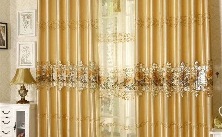 Chamie Living Room Curtain Fashion Quality Embroidered
