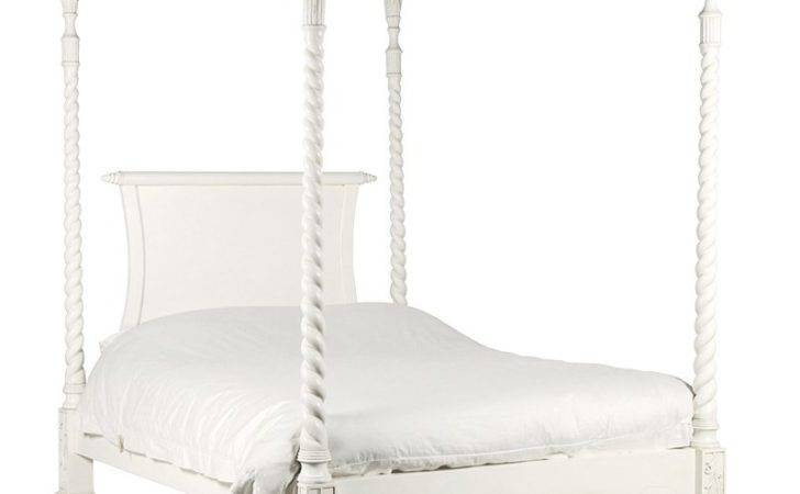 Chateau Antique White Four Poster Bed French Beds