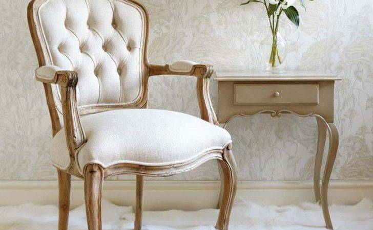 Chateauneuf Rustic Pine French Armchair Bedroom Chair