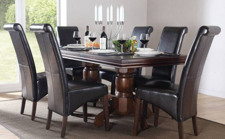 Chatsworth Extending Dark Wood Dining Table Chairs