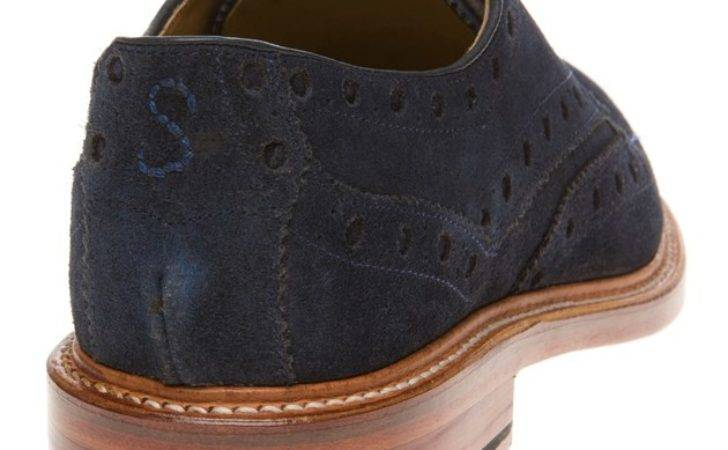 Cheap Mens Blue Oliver Sweeney Hasketon Shoes