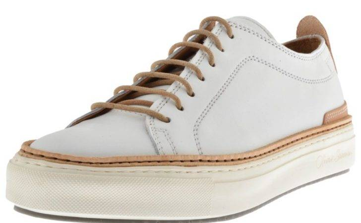 Cheap Oliver Sweeney Lopes Leather Trainers Shoes White