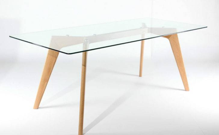 Chelsea Extra Large Clear Glass Table Solid Wooden Oak
