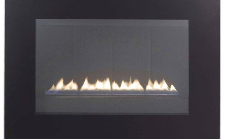 Cheshire Black Glass Frame Flueless Wall Hung Gas Fire