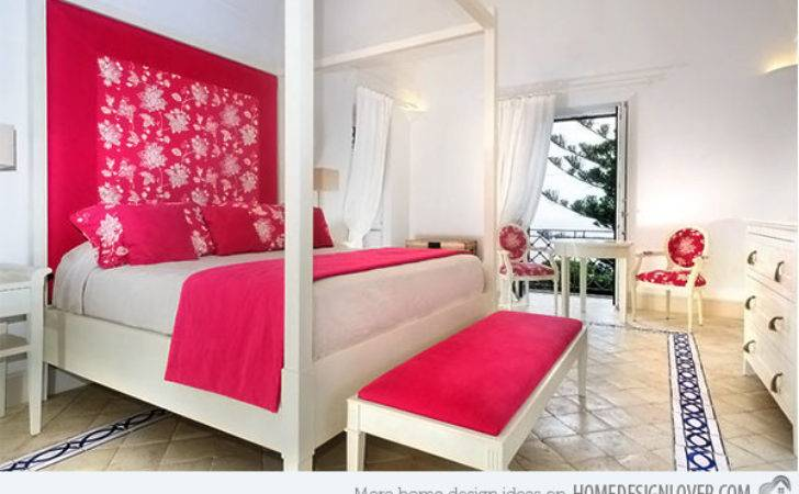 Chic Hot Pink Bedroom Designs Decoration House