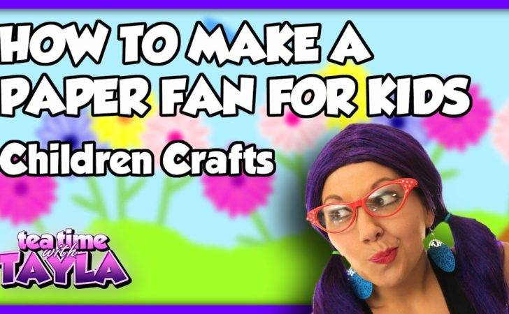 Children Crafts Make Paper Fan Kids Tea