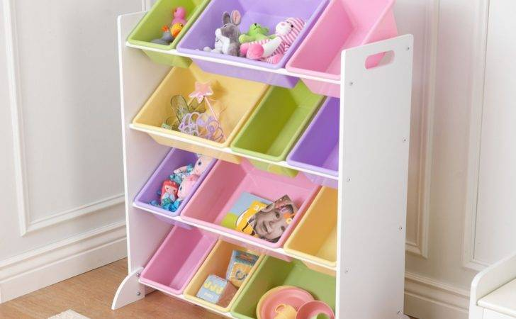 Children Toy Storage Unit Pastel Plastic Bin