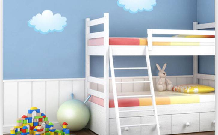 Childrens Kids Bedroom Sun Clouds Wall Art Stickers