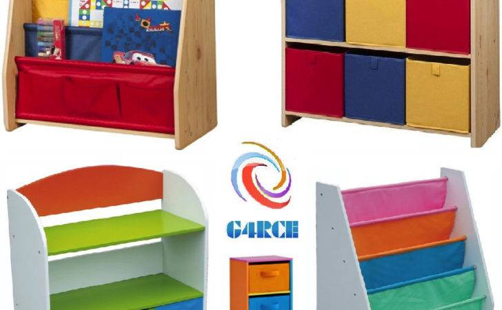 Childrens Kids Wooden Bookcase Rack Storage Book Shelf