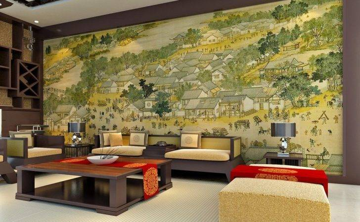 Chinese Classical Painting Living Room Wall