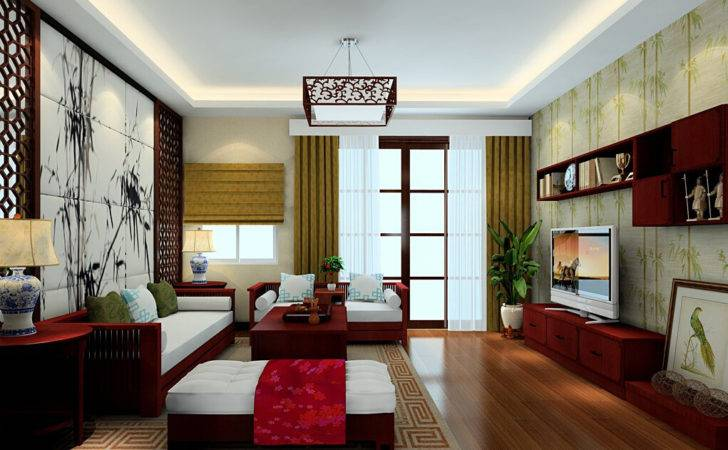 Chinese House Decoration Bamboo Theme Interior Design