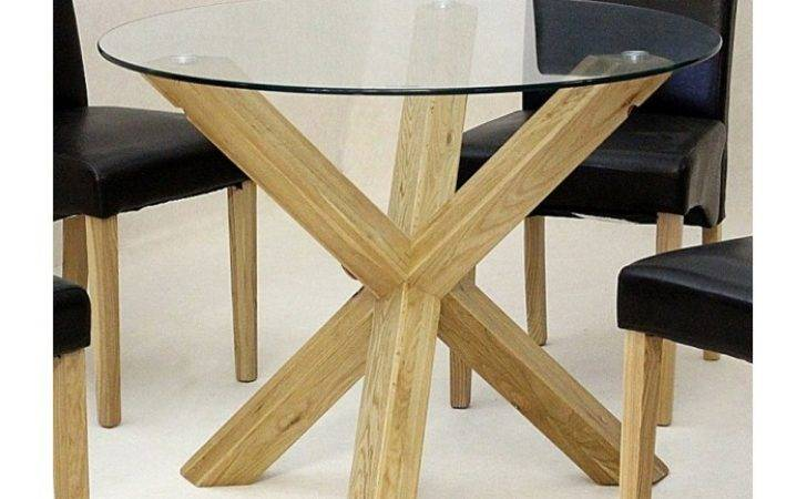 Chinon Round Mini Glass Dining Table Azura Home Style