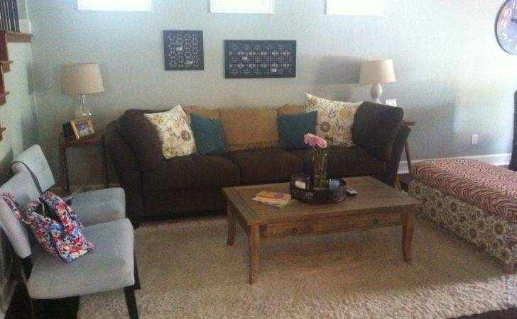 Chocolate Teal Living Room Home Design
