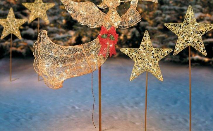Christmas Angel Yard Decorations Trumpeting Outdoor