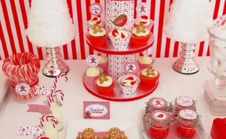 Christmas Candyland Party Ideas Desserts Table