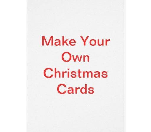 Christmas Card Create Your Own Holliday Decorations